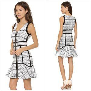 NWOT Rebecca Taylor Raffia Tweed Flounce Dress 10